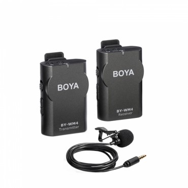 BOYA Kit Micrófono lavalier inalámbrico BY-WM4