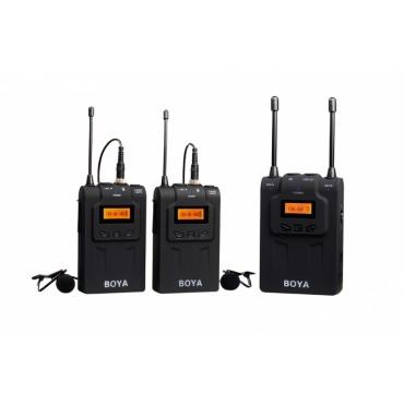 Kit Micrófono lavalier inalámbrico UHF Dual Boya BY-WM8