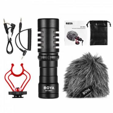 BOYA Micrófono de cañón sobre cámara cardioide Boya BY-MM1