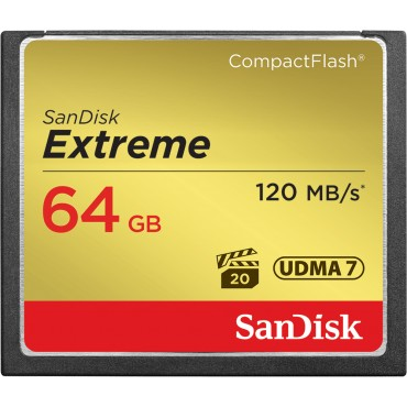 SANDISK CF Extreme 64GB 120MB/s / 85MB/s