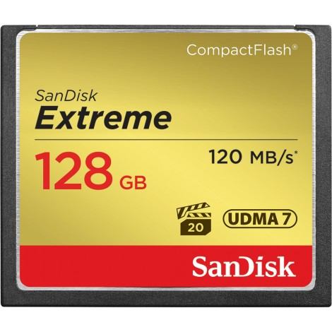 SANDISK CF Extreme 128GB 120MB/s / 85MB/s