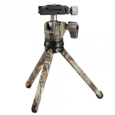 LEOFOTO Kit minitrípode MT-01 y rótula LH-25 color madera