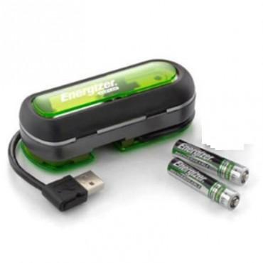 ENERGIZER CARGADOR USB + 2 PILAS AAA 900MAH