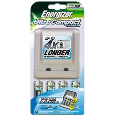 ENERGIZER CARGADOR ULTRA COMPACT +4AA +2 AAA