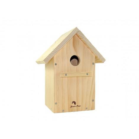 Caja nido para aves, a dos aguas