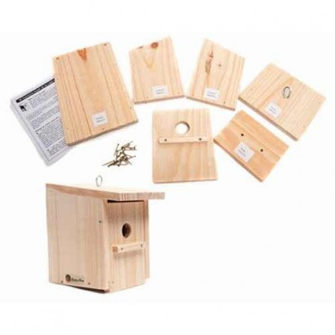 Caja nido para pajaros. Kit de construccion educativo
