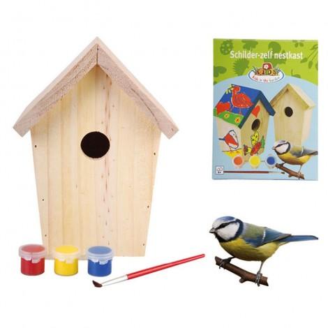 Kit caja nido infantil + pinturas