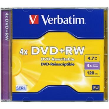 verbatin dvd + rw 4x 4,7 gb  120 min