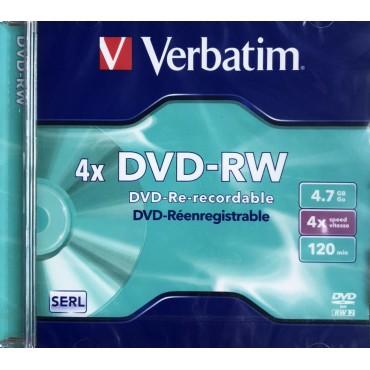 verbatin dvd -rw 4x 4,7gb 120 min