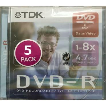 TDK DVD-R PACK 5 UDS