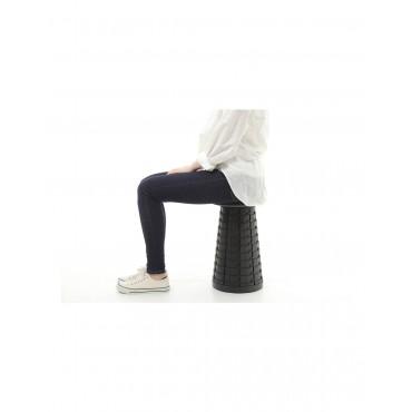 MINI MAX Cojin negro para taburete plegable