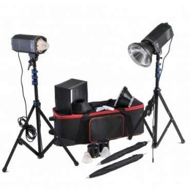 CROMALITE KIT 2 FOCOS STUDIO LED COOLED HPL 1600/200